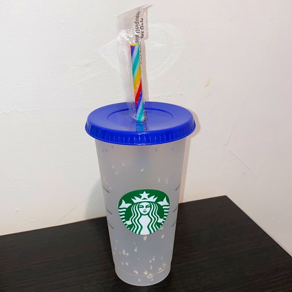 STARBUCKS Reusable Cup With Colorful Straw